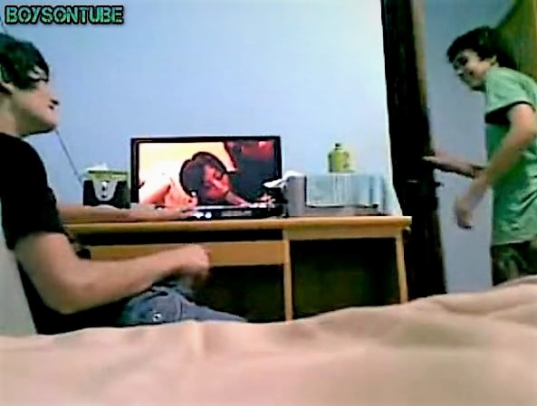 Young wanks with Friend in room