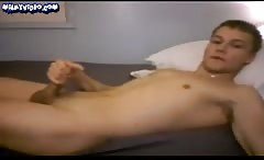 Athletic Sexy Boy Cums On His Hard Abs, Huge Load
