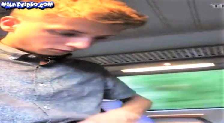 German boy on Train