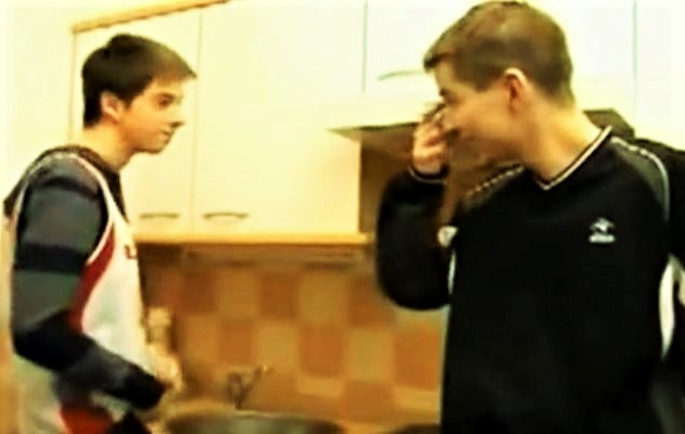Timid Twinks in Kitchen